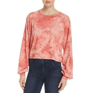 HONEY PUNCH | Tie Dye Cropped Long Sleeve Top